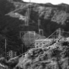 Short Circuitry (Long Ball Larry) Tags: bw mountain lines losangeles focus poetry power hiking powerplant eaglerock tiltshift focalrange travisbutton