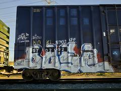 DOSE (TRUE 2 DEATH) Tags: longexposure railroad train graffiti tag graf trains railcar railways railfan freight freighttrain dose rollingstock buk50  benching freighttraingraffiti ricohgriv texgoth