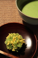 Kinton (Teruhide Tomori) Tags: japan kyoto sweet traditional greentea maccha wagashi