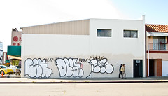 Begr, Destn, Chek (TheHarshTruthOfTheCameraEye) Tags: graffiti oakland pop ups destn throw beg bmb throwups chek nsf twb throwies begr wge