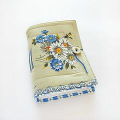 Field Flowers - journal (Lariata) Tags: flowers blue white nature garden notebook handmade diary cream craft sketchbook handmadejournal