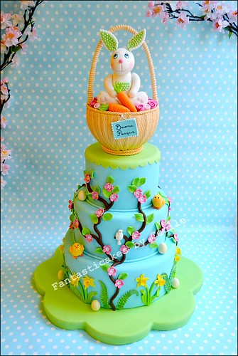 Sweet Easter Bunny Cake, for Cucina Chic Cake Design Magazine - a ...