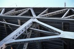 Bay Bridge Grid (neekoh.fi) Tags: sanfrancisco film baybridge canona1 provia100f fd fdn24mmf2