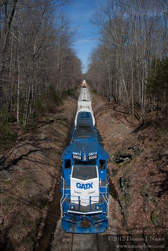 "Blue locomotive, blue skies • <a style=""font-size:0.8em;"" href=""https://www.flickr.com/photos/20365595@N04/7039037291/"" target=""_blank"">View on Flickr</a>"