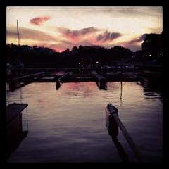 IMG_0008 (anjakb) Tags: sunset marina havn 2012 solnedgang iphone tregde