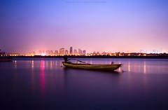 Changsha City - Hunan - China | The Main River (Hussam Haji Bakr) Tags: china longexposure light green night landscape haji hussam changsha cites colorphotoaward