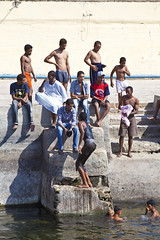 Jumping in the water (Stephan Alberola) Tags: egypt nile nil aswan elephantineisland assouan