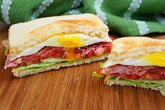 Fried Egg BLT (Kitchen Life of a Navy Wife) Tags: lunch sandwich friedegg blt