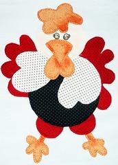 Aplique (deize costa) Tags: bag galinha fuxico patchwork bolsa tecido aplique deizecosta