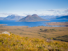 Lake Pedder (whitworth images) Tags: blue sky lake mountains nature water clouds landscape outdoors australia hills alpine tasmania moors wilderness peaks plains grassland creeks lakepedder mountsolitary mtsolitary southwesttasmania southwestnationalpark pedder buttongrass mtanne mountanne