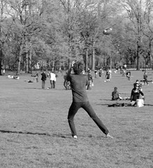 Football (rysgam) Tags: park nyc blackandwhite man guy canon football spring centralpark greatlawn canondigital t4i canont4i