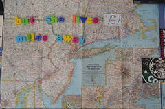 (helloaperture) Tags: new york boston maps relationship longdistance magneticletters vintagemap