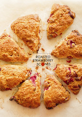 Roasted Strawberry Scones (EZ68) Tags: food breakfast dessert spring strawberries snack scones roastedstrawberries