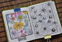 Some daisies (Marisol Covelo) Tags: flowers urban flower color art nature pencils painting nikon europe sketching pastels colored draw watercolors coloredpencils sketches dibujo lamy oleo lpiz