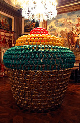 Cupcake anyone? (PMTN) Tags: mostra wood art portugal colors arte floor lisboa lisbon paintings palace exhibition chandelier cupcake cho madeira quadros ajuda candelabro joanavasconcelos palcionacionaldaajuda