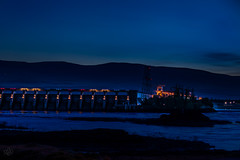 The Dalles Dam in morning blue (GeorgeOfTheGorge) Tags: oregon power unitedstates dam electricity bluehour thedalles hydropower hydroelectricity thedallesdam us197