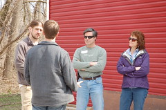 "Jared, Mike, Steve and Sue Talking <a style=""margin-left:10px; font-size:0.8em;"" href=""http://www.flickr.com/photos/91915217@N00/13811005705/"" target=""_blank"">@flickr</a>"