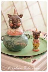 Choco-Cats-by-Johanna-Parker (Johanna Parker Design) Tags: cat easter spring folkart whimsical johannaparker
