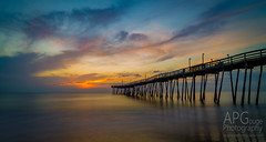 Avalon Morning (APGougePhotography) Tags: beach colors clouds sunrise pier nc sand nikon hawk north kitty adobe carolina outerbanks avalon obx lightroom nikond600