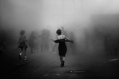 I feel like dancing (s@brina) Tags: street party people woman freedom dance smoke liveliness