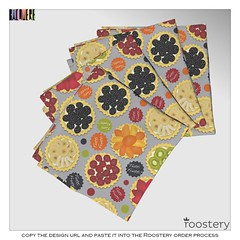 Tutti_Frutti_Napskins_ROOSTERY_MOCKUP (vannina_sf) Tags: food cake fruit pie dessert pattern candy napkin fabric napkins tuttifrutti spoonflower roostery