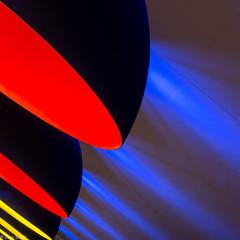 Lampenformation (zora_schaf) Tags: rot art underground gelb ubahn blau beleuchtung abstrakt lampen westfriedhof zoraschaf
