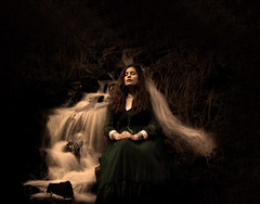 The River Bride (Maren Klemp) Tags: longexposure light woman painterly black texture nature water vintage river dark outdoors bride movement stream dress fineart dream naturallight ethereal expressive nostalgic dreamy melancholy conceptual symbolic fineartphotography darkart evocative symblic fineartphotographer