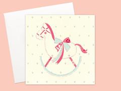 Pink Pony cards set (Kata Kiosk) Tags: pink horse cute girl shop set whimsy mail sweet snail artsy pony card horsy etsy stationery stationary snailmail penpal mailer penpalling snailmailer