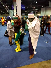 Rogue and Piccolo (blueZhift) Tags: anime comics costume illinois cosplay manga rosemont videogames xmen convention rogue piccolo dragonballz acen 2016 dbz animecentral