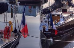 Pen Duick III 30th April 2016 (JDurston2009) Tags: reflection sailing harbour flag plymouth barbican sailingboat tricolore suttonharbour transat penduickiii transatbakerly