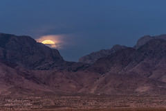Blue Moon (inlightful) Tags: sky moon mountains nature clouds moonrise astrophotography astronomy bluemoon