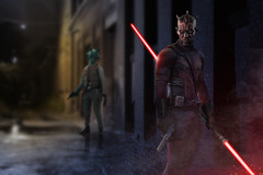 Darthpool (caffeineandpixels) Tags: photoshop starwars disney marvel sith darthmaul greedo mercenaries bountyhunters deadpool