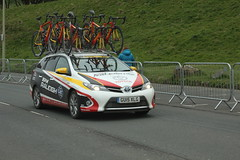 Raleigh Team Car (Steve Dawson.) Tags: uk england car bike race canon eos is 1st yorkshire may raleigh cycle tdy scarborough usm ef28135mm seafront stage3 uci peloton spares 2016 f3556 50d ef28135mmf3556isusm canoneos50d tourdeyorkshire