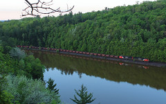 Morning Arrival (view2share) Tags: railroad morning travel camping trees light camp lake reflection water up weather mi cn train sunrise track michigan transport may tracks rail railway rr trains roadtrip calm transportation empire rails wilderness upperpeninsula overlook ore freight northwood bluff railroaders railroads northwoods canadiannational freighttrain uppermichigan missabe dmir 2016 railroading freightcars northernmichigan marquettecounty gooselake freightcar empiremine rring duluthmissabeironrange orejennies trackage marquetterange marquetteironrange oreline orepellets cn5741 may2016 deansauvola may302016