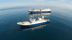 Spectacular aerial view of the EV Nautilus and CS Wave Venture! (Ocean Networks Canada) Tags: ocean ship aerial nautilus drone waveventure wiringtheabyss2016 abyss16