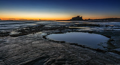 Bamburgh (explored 20/5/16 #23) (MarkWaidson) Tags: castle beach pool rock sunrise northumberland bamburgh