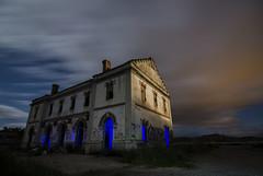 """La ltima estacin"" / ""The last station"" (Santi Salinas) Tags: nightphotography lightpainting ruins alone ruinas nocturna navarra abandonedplaces"