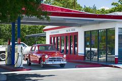 Burgers & Shakes in Cottonwood AZ (Joseph Austin) Tags: old arizona usa cafe roadtrip cottonwood oldcar oldtime oldgasstation cottonwoodaz oldtowncottonwood bingsburgerstation 1950sgasstation