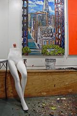 Acrylics (skipmoore) Tags: art mannequin painting paint sausalito acrylics sueaverell winteriopenstudios