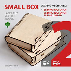 Box with sliding bolt latch with SPRING LOADED (cartonus) Tags: spring bolt sliding cnc loaded latch giftbox lasercut woodenbox cartonus