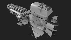 Azazel Low Poly Mesh (Sastrei87) Tags: lego blender homeworld 3vil azazel