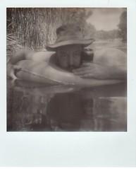 Chad, June 19 (EllenJo) Tags: bw polaroid sx70 verderiver autofocus cottonwoodarizona 2016 june19 jailtrail instantfilm ellenjo summerinarizona ellenjoroberts impossibleproject theimpossibleproject