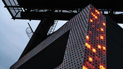 A12989 / Johnie's Coffee Shop, solarized (janeland) Tags: california sign losangeles architecturaldetail january billboard ongrey solarized overhead wilshireblvd 2016 pe0 johniescoffeeshop 90048