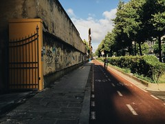 Untitled view of a street in the morning in Florence (ale2000) Tags: street morning florence view firenze sight mytown a6 mycity thisiswhereilive vsco