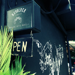 Revolver is Open (Androided) Tags: bali coffee canon indonesia hipster sigma sanur seminyak 2016 revolvercafe canoneos5dmarkii sigma35mm14
