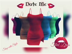 Date Me Flirt Dress (maus.megadon) Tags: summer me fashion shop women dress flirt style secondlife date belleza maitreya slink