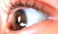 Through his eyes (Ruanon) Tags: baby macro reflection eye up closeup living close room