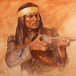 "<b>Indian with Rifle</b><br/> Roy Hampton (1923-) ""Indian with Rifle"" Mixed Media, ca. 1978 LFAC #951<a href=""//farm8.static.flickr.com/7050/6779927986_4a129e88d5_o.jpg"" title=""High res"">∝</a>"
