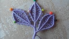 foglie per realizzare 1 albero (patty macramè) Tags: foglie albero tutorial spille pizzo gioielli margarete margaretenspitze