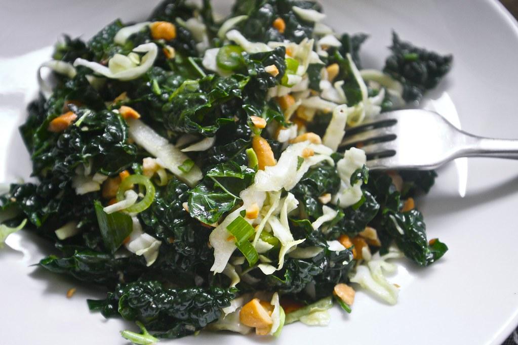 kale cashew mint slaw